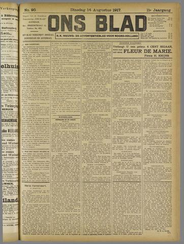 Ons Blad : katholiek nieuwsblad voor N-H 1917-08-14