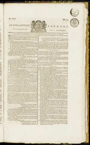 Alkmaarsche Courant 1837-09-11