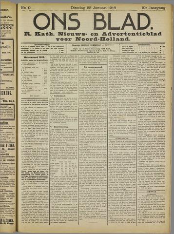 Ons Blad : katholiek nieuwsblad voor N-H 1916-01-25
