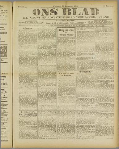 Ons Blad : katholiek nieuwsblad voor N-H 1920-09-22