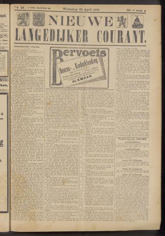 Nieuwe Langedijker Courant 1924-04-23