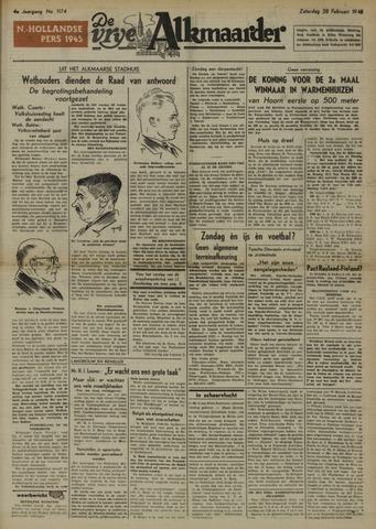 De Vrije Alkmaarder 1948-02-28