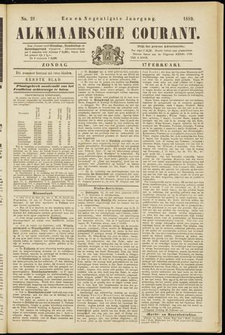 Alkmaarsche Courant 1889-02-17