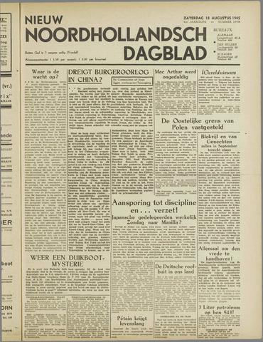 Nieuw Noordhollandsch Dagblad : voor Alkmaar en omgeving 1945-08-18