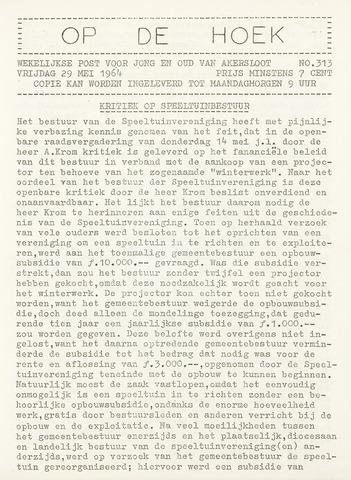 Op De Hoek, weekblad voor Akersloot 1964-05-29