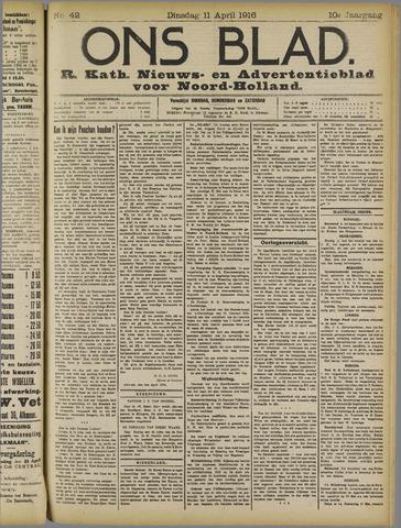 Ons Blad : katholiek nieuwsblad voor N-H 1916-04-11