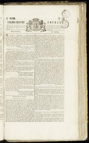 Alkmaarsche Courant 1840-07-06