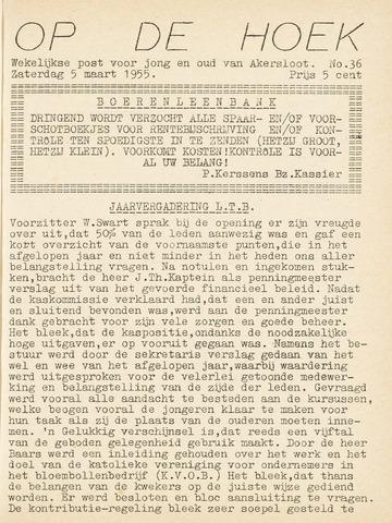 Op De Hoek, weekblad voor Akersloot 1955-03-05