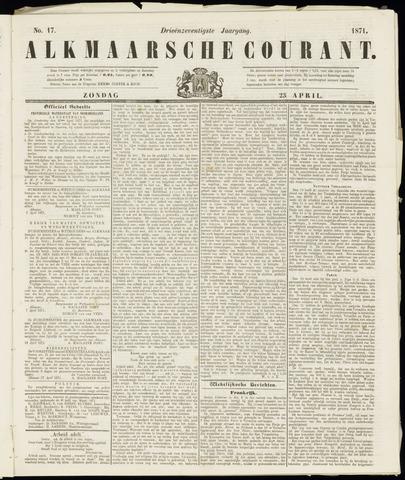 Alkmaarsche Courant 1871-04-23