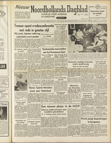 Nieuw Noordhollandsch Dagblad : voor Alkmaar en omgeving 1951-09-05
