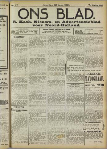 Ons Blad : katholiek nieuwsblad voor N-H 1913-08-23