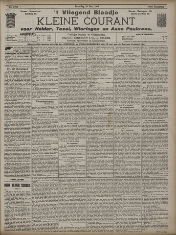 Vliegend blaadje : nieuws- en advertentiebode voor Den Helder 1909-06-19