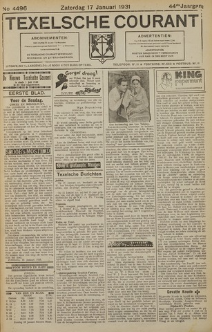 Texelsche Courant 1931-01-17