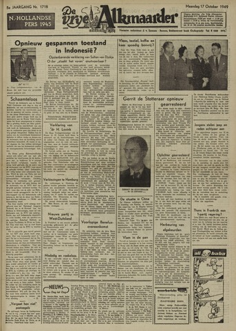 De Vrije Alkmaarder 1949-10-17
