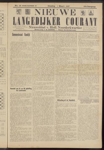 Nieuwe Langedijker Courant 1927-03-01