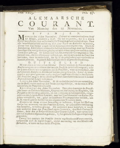 Alkmaarsche Courant 1805-11-25