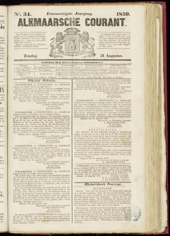 Alkmaarsche Courant 1859-08-21