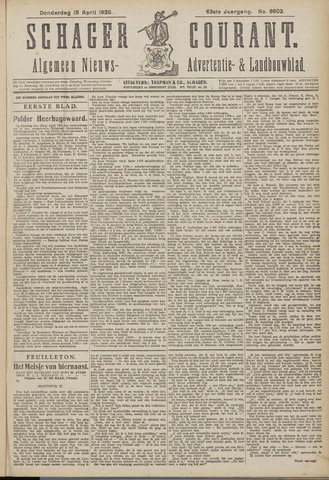 Schager Courant 1920-04-15