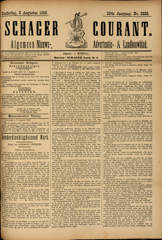 Schager Courant 1889-08-08
