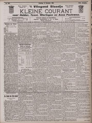 Vliegend blaadje : nieuws- en advertentiebode voor Den Helder 1902-11-15