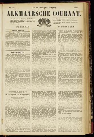 Alkmaarsche Courant 1884-02-27