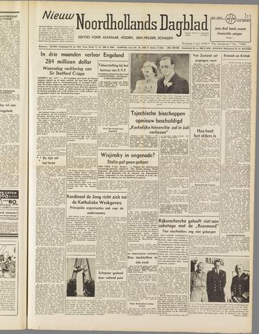 Nieuw Noordhollandsch Dagblad : voor Alkmaar en omgeving 1949-07-05