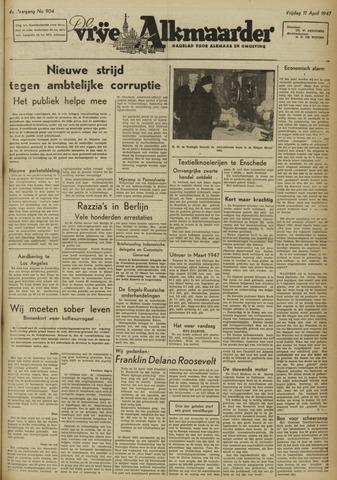 De Vrije Alkmaarder 1947-04-11