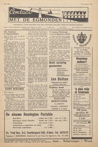 Contact met de Egmonden 1961-11-30