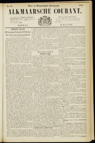 Alkmaarsche Courant 1892-03-27