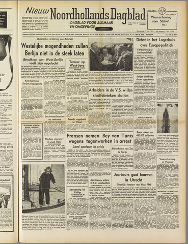 Nieuw Noordhollandsch Dagblad : voor Alkmaar en omgeving 1952-05-15