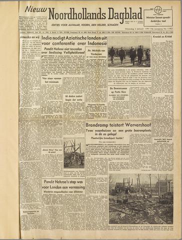 Nieuw Noordhollandsch Dagblad : voor Alkmaar en omgeving 1949-01-03