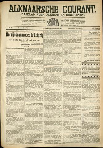 Alkmaarsche Courant 1933-09-22