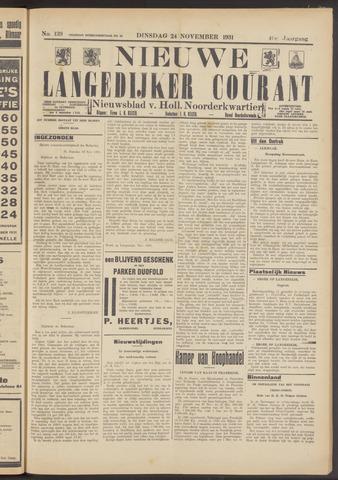 Nieuwe Langedijker Courant 1931-11-24