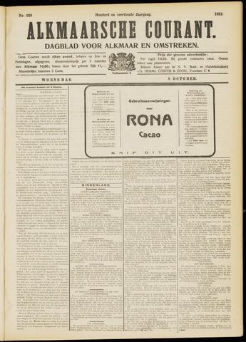 Alkmaarsche Courant 1912-10-09