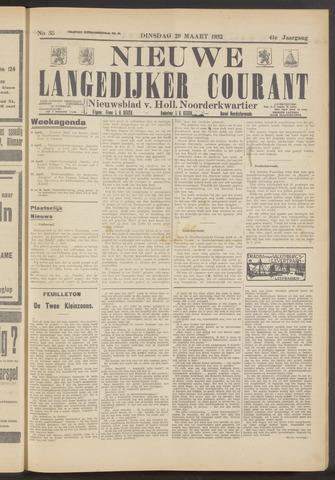 Nieuwe Langedijker Courant 1932-03-29