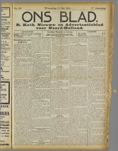 Ons Blad : katholiek nieuwsblad voor N-H 1911-05-17
