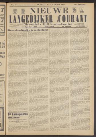 Nieuwe Langedijker Courant 1930-11-11
