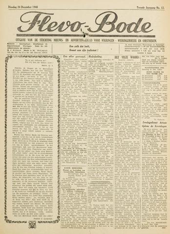 Flevo-bode: nieuwsblad voor Wieringen-Wieringermeer 1946-12-24