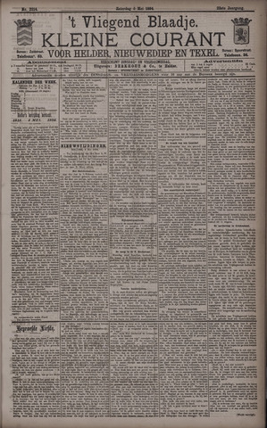 Vliegend blaadje : nieuws- en advertentiebode voor Den Helder 1894-05-05