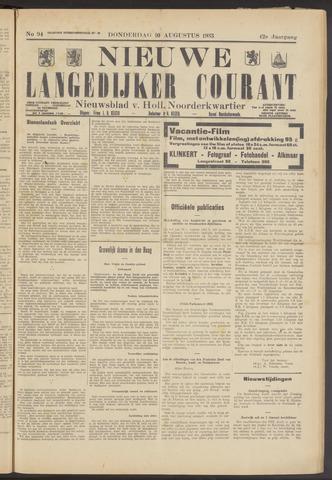 Nieuwe Langedijker Courant 1933-08-10