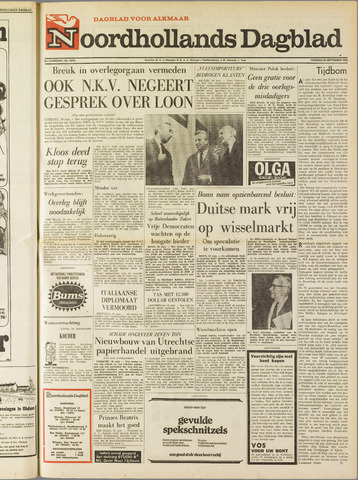 Noordhollands Dagblad : dagblad voor Alkmaar en omgeving 1969-09-30