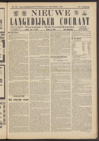 Nieuwe Langedijker Courant 1931-10-06