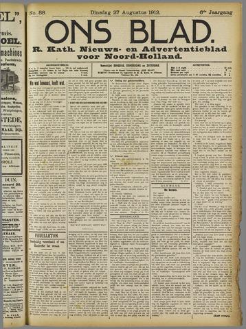 Ons Blad : katholiek nieuwsblad voor N-H 1912-08-27