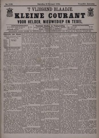 Vliegend blaadje : nieuws- en advertentiebode voor Den Helder 1884-02-09