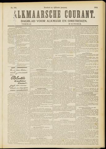 Alkmaarsche Courant 1913-10-10