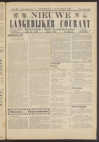 Nieuwe Langedijker Courant 1930-09-11