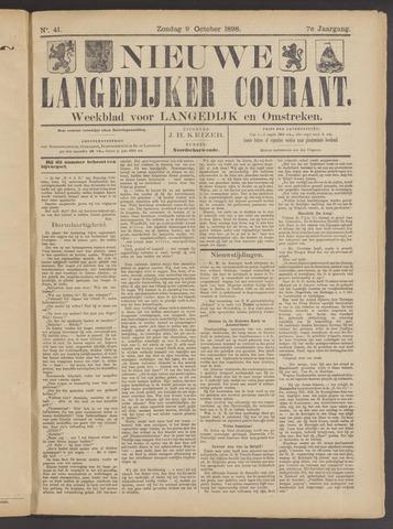 Nieuwe Langedijker Courant 1898-10-09