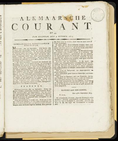 Alkmaarsche Courant 1815-10-09