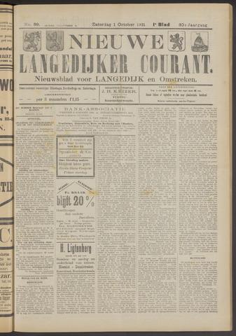Nieuwe Langedijker Courant 1921-10-01