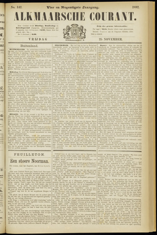 Alkmaarsche Courant 1892-11-25